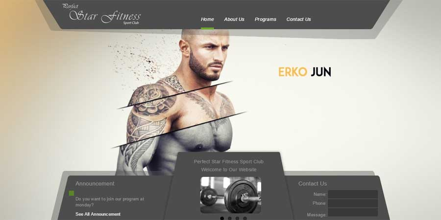 Star Fitness – Responsive Bootstrap Template