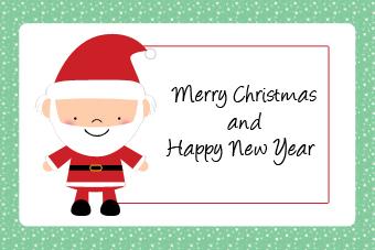 Felicitación de Navidad Papá Noel