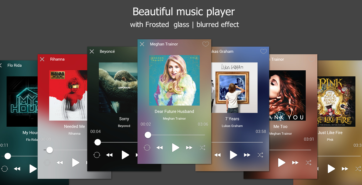 beautiful music player