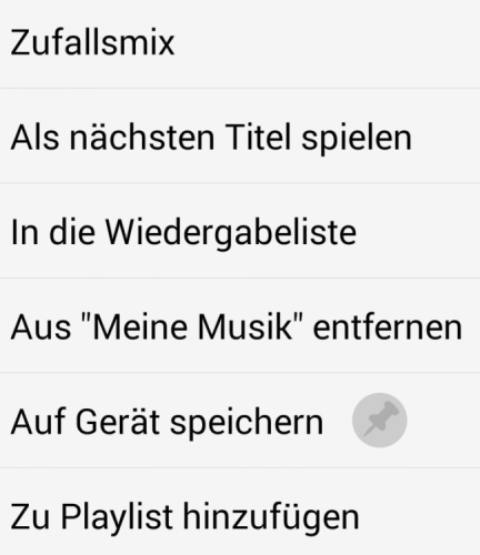In der App für Smartphone / Tablet: Musik einfach offline speichern.