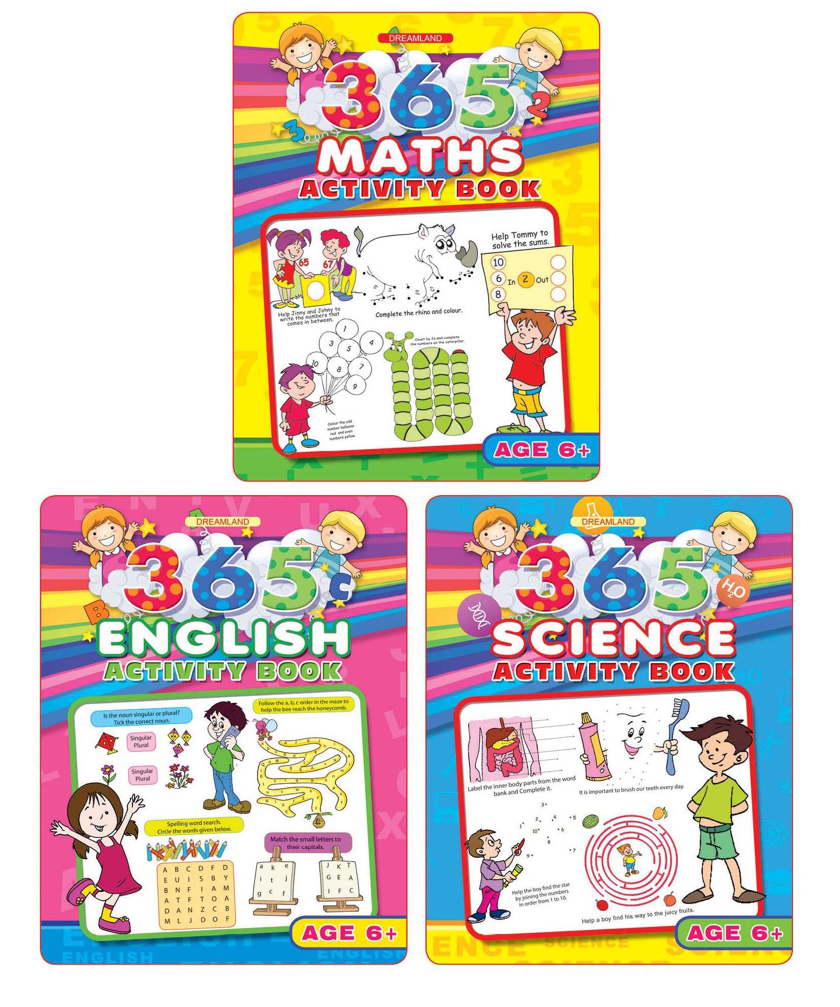 365 Activity Books pack 3 titles