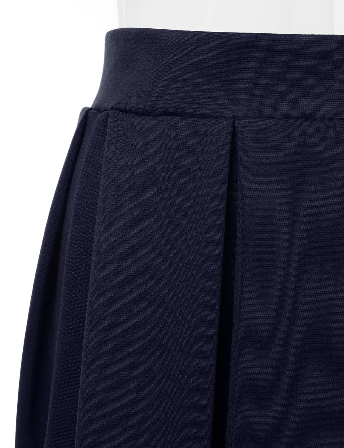 Doublju-Elastic-Waist-Flare-Pleated-Skater-Midi-Skirt-for-Women-with-Plus-Size thumbnail 16
