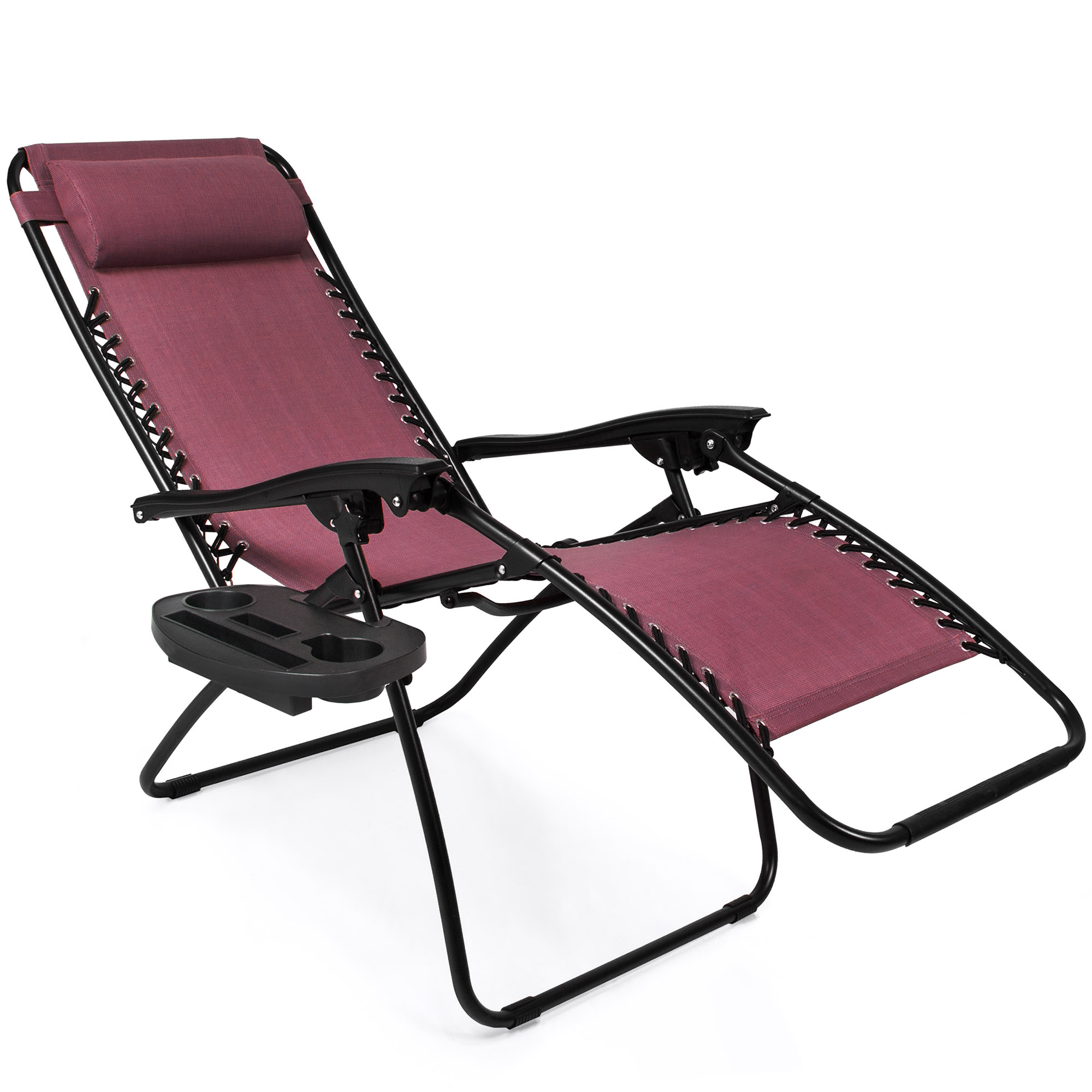 BCP-Set-of-2-Adjustable-Zero-Gravity-Patio-Chair-Recliners-w-Cup-Holders thumbnail 39