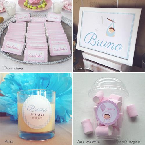 Productos personalizados para un bautizo