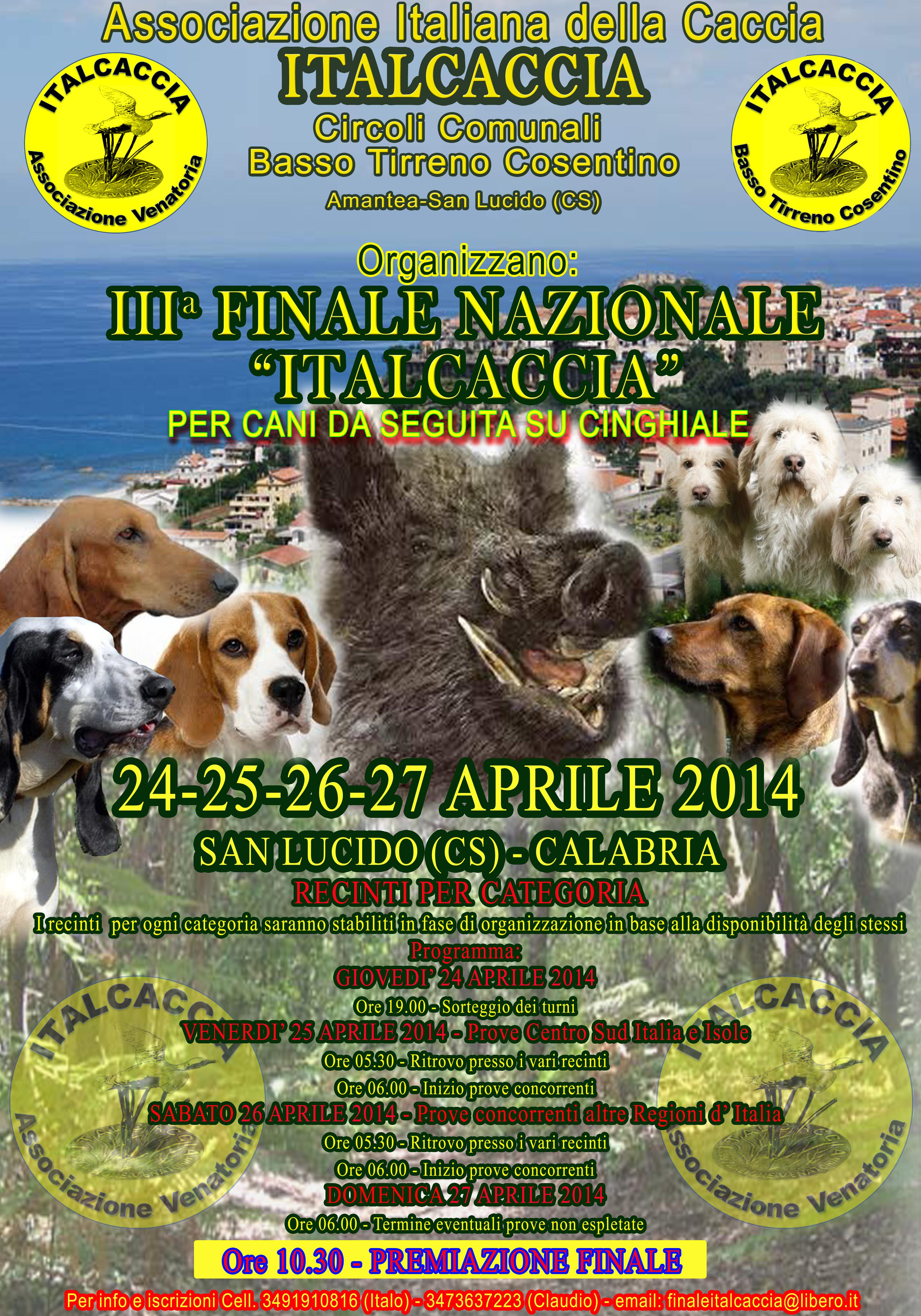 III Finale Nazionale Italcaccia per cani da seguita su cinghiale