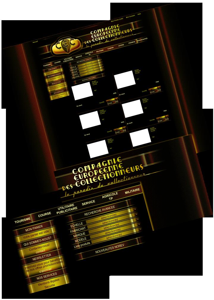 Etude graphique pour le site web CEC. Cliquez pour afficher en HD