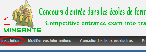 Online registration for MINSANTE concours Cameroon