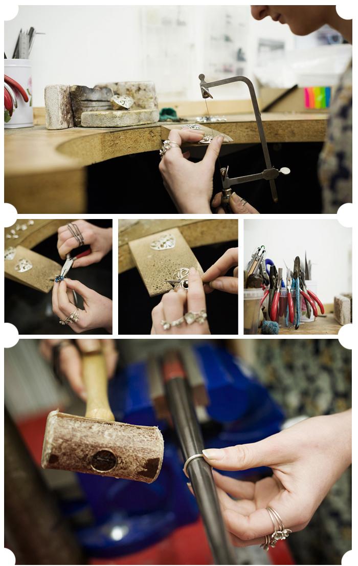 Sian Bostwick jewellery workshop