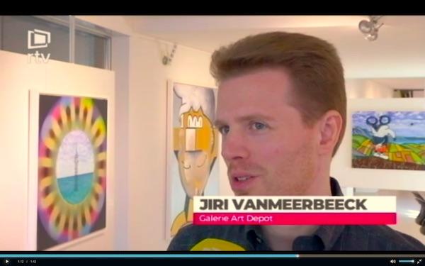 reportage RTV Kamagurka in Art Depot Bonheiden