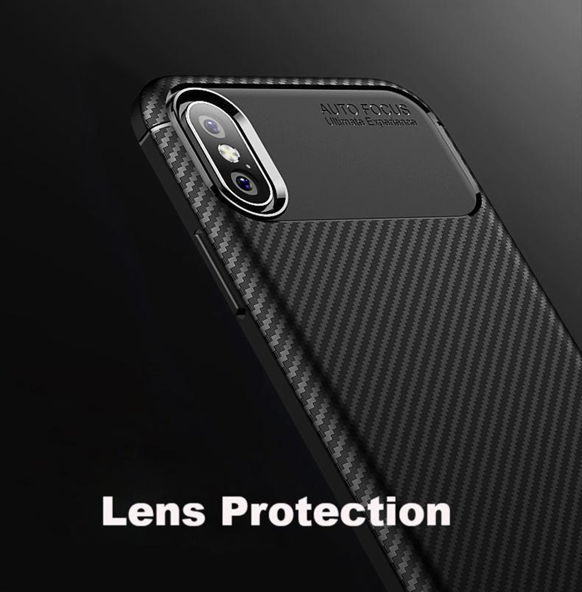 Case for iPhone Carbon Fibre Soft Cover TPU Silicone Slim X XR XS Max 8 7 6 Plus
