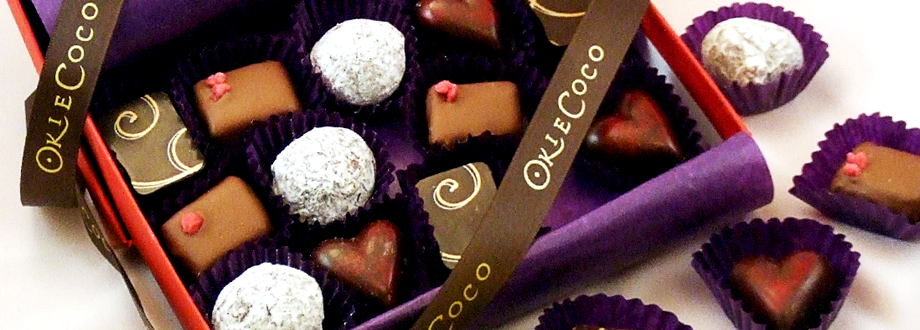 Luxury Handcrafted Fresh Chocolates by Okie Coco Chocolate Alchemy