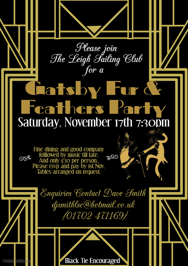Gatsby Fur & Feathers Party Sat 17th November 2018