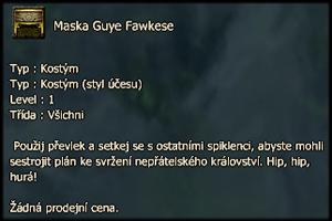 Maska Guye Fawkese