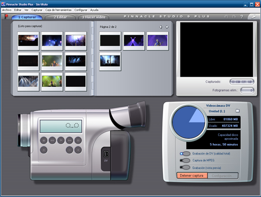 Pinnacle video capturing