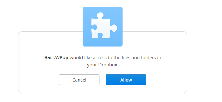 them job ket noi dropbox backwpup