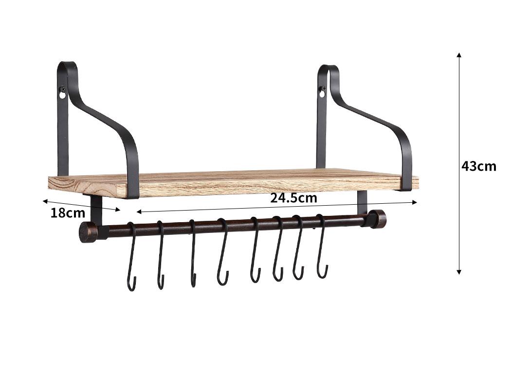 thumbnail 14 - Levede Floating Shelf Brackets Wall Shelves Mount Display Rack Storage Hook