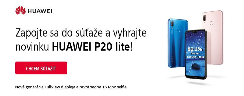 Vyhrajte horúcu novinku Huawei P20 lite!