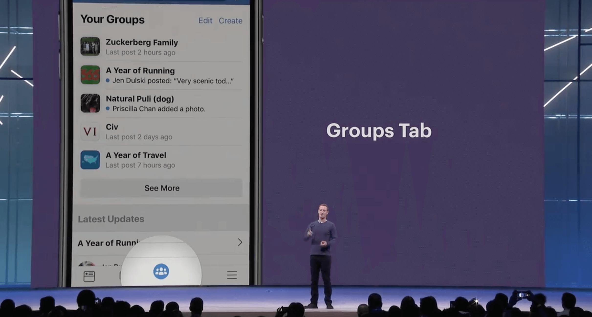 facebook group tab