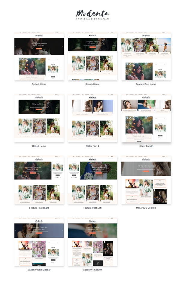 Modenta - A Responsive Personal Blog Template - 2