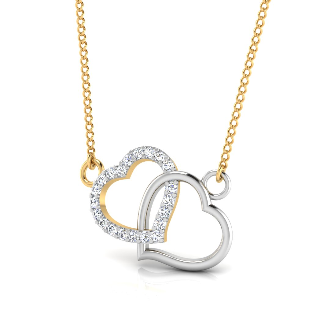 The Double Heart Diamond Pendant