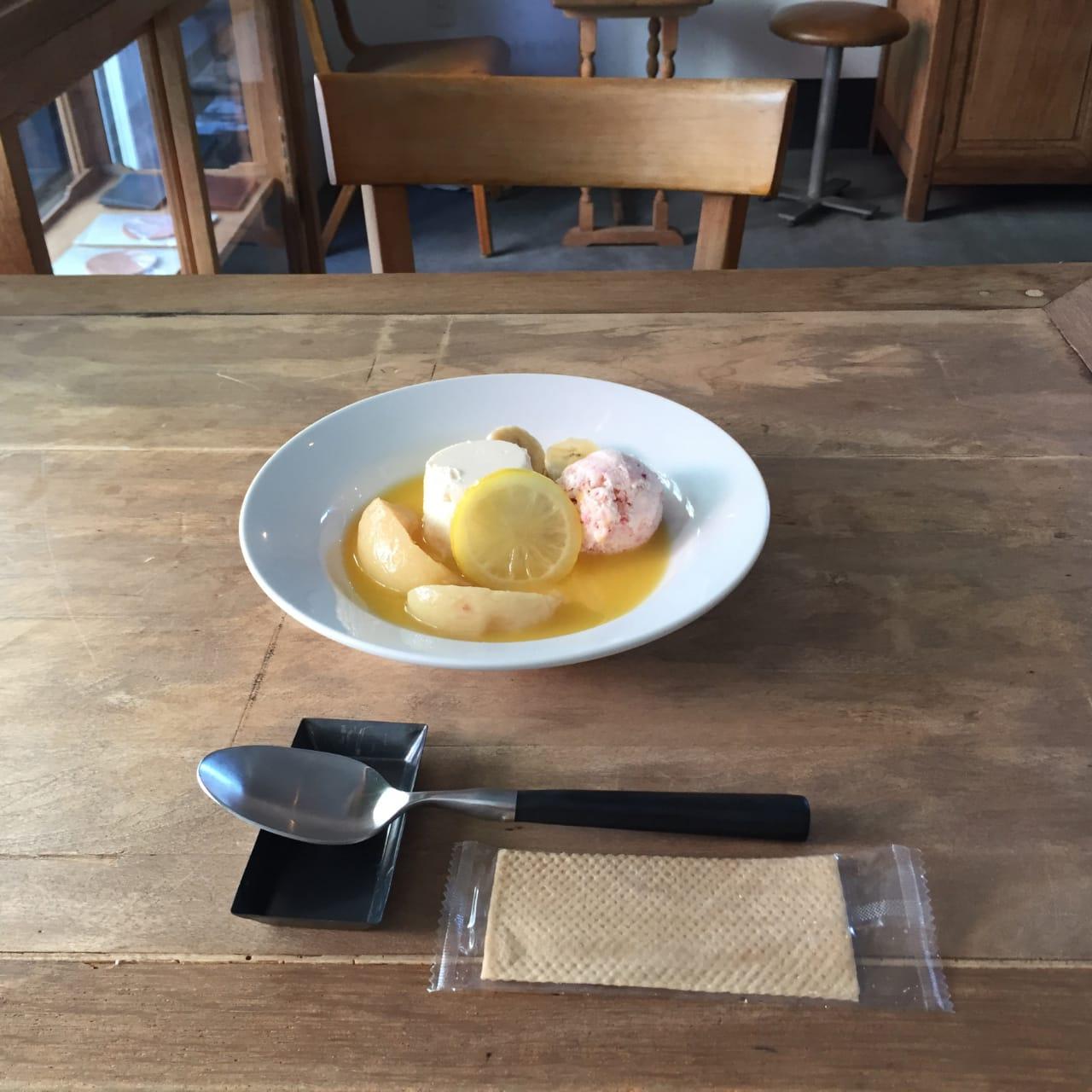 レモンのプレートパフェ