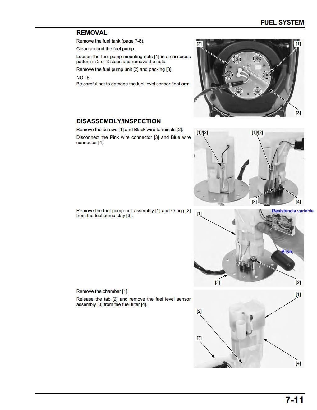 Problema con el indicador de la reserva honda nc club for Tecnicas gastronomicas pdf
