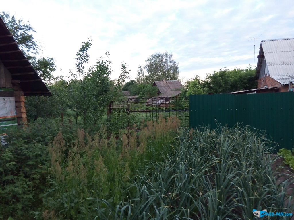 Забор за баней и дальше, калитка для соседа - путь к нам в баньку!