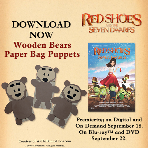 Wooden Bears Paper Bag Puppets