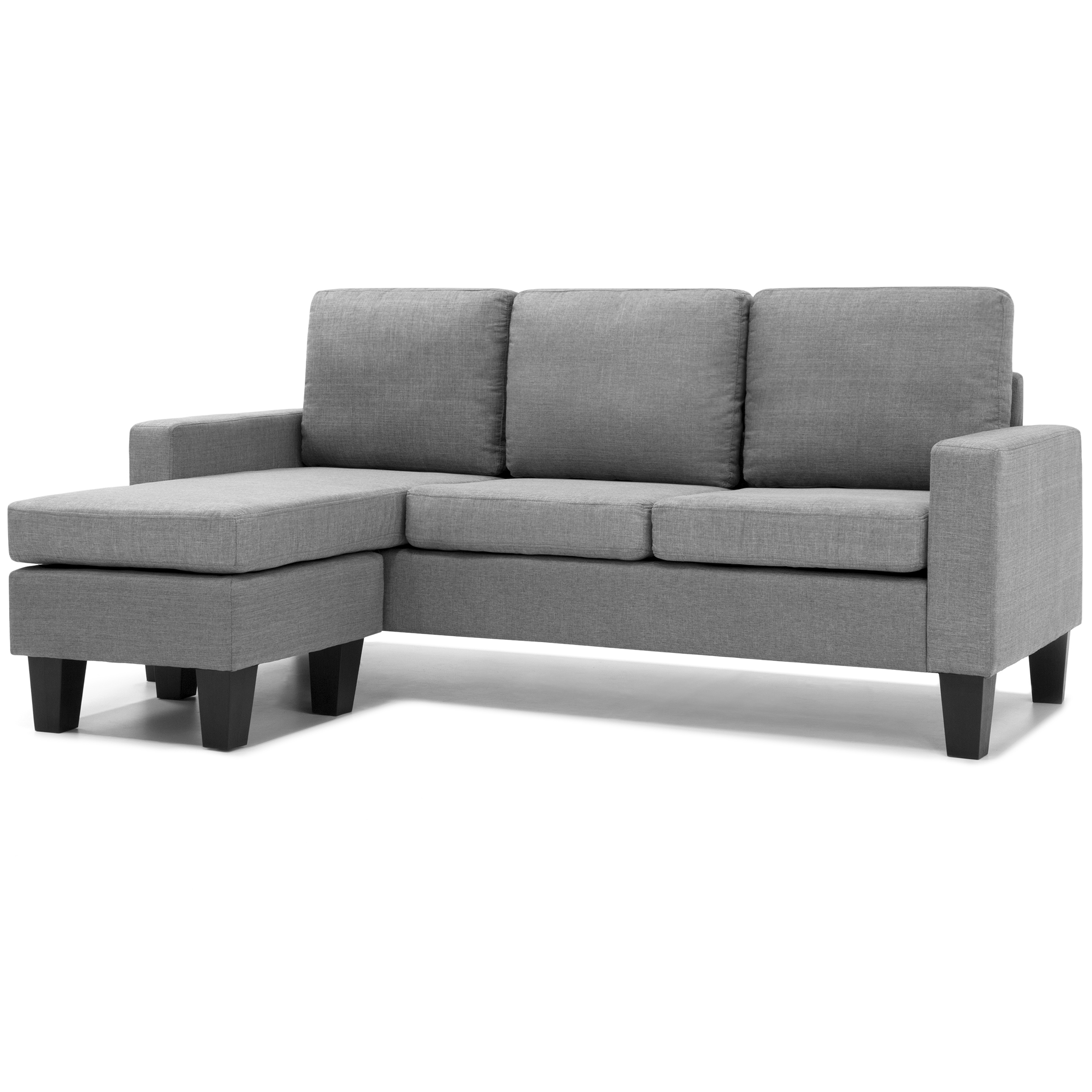 Sectional Sofa Couch Reversible Chaise Ottoman Furniture: Home Microfiber L-Shape Sectional Sofa Couch W/ Reversible