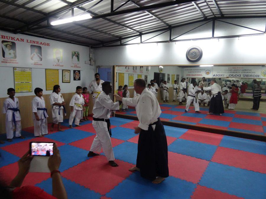 Aikido-Training im Honbu Dojo Chennai