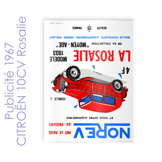 Publicité 1967 CITROËN 10CV Rosalie