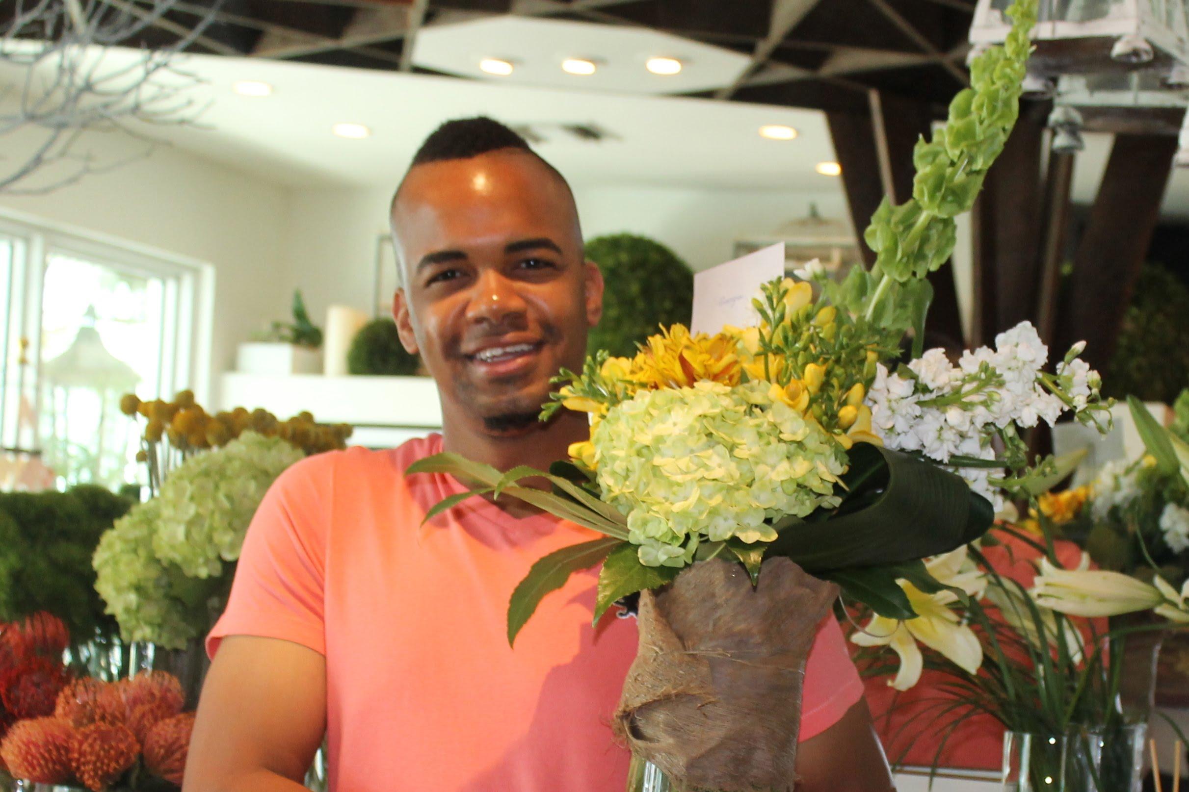 Lofton Delivering flowers