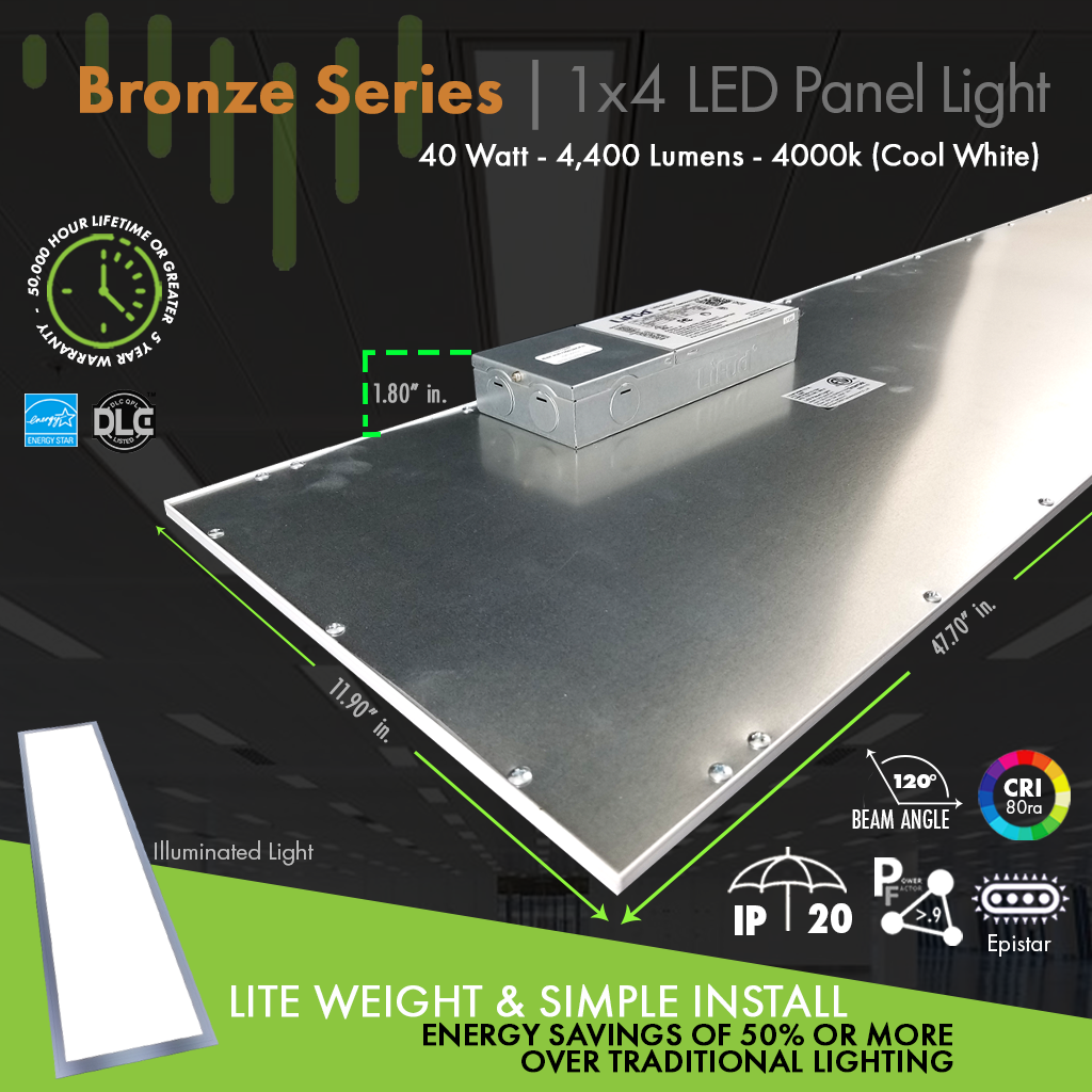 1x4-LED-Panel-Light-Bronze-Layout