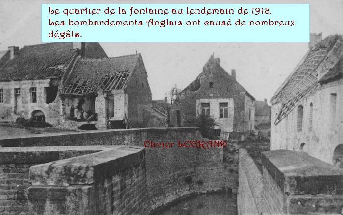 Haspres la fontaine en 1918