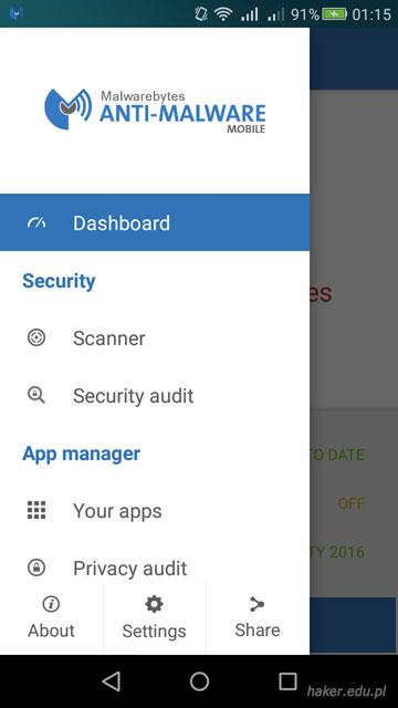 Malwarebytes Anti-Malware Mobile w języku polskin na Androida