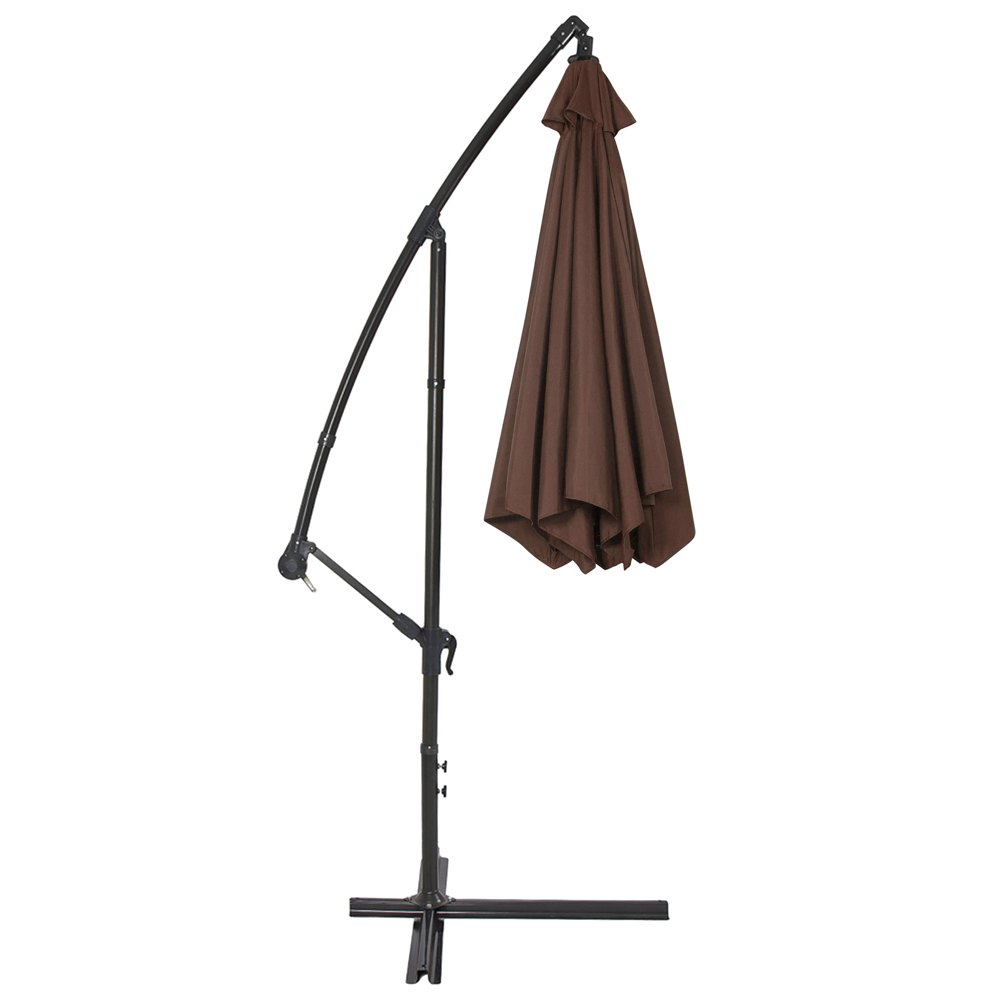BCP-10ft-Offset-Hanging-Market-Patio-Umbrella-w-Tilt-Adjustment-Hand-Crank thumbnail 21