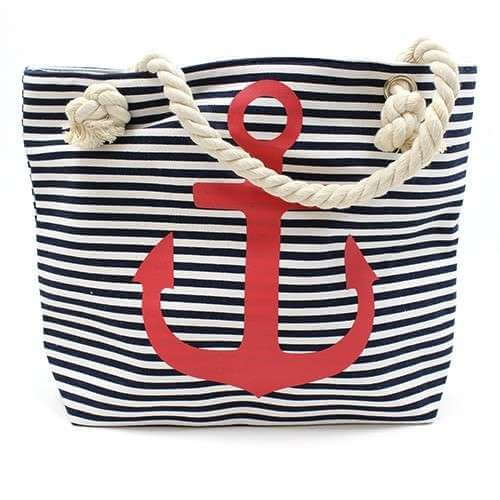 rope handle bag - red anchor
