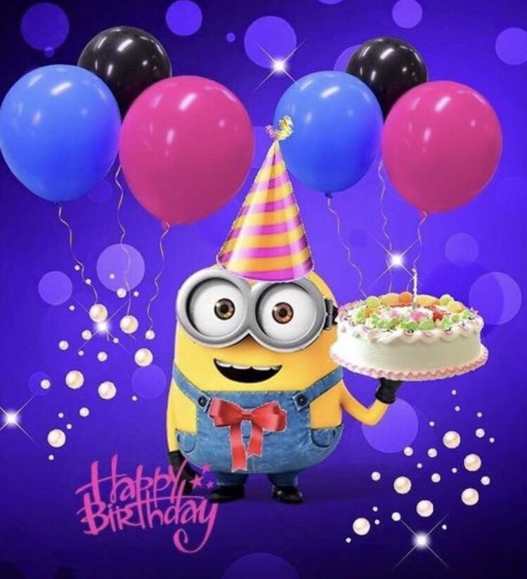 Миньон с днем рождения картинки, мая