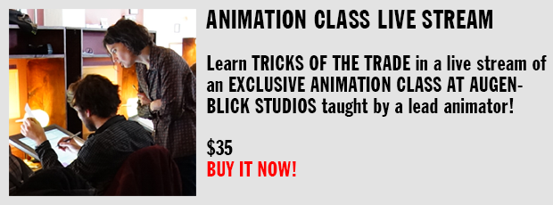 Animation Class Live Stream, $35
