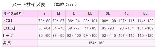 ヌードサイズ表