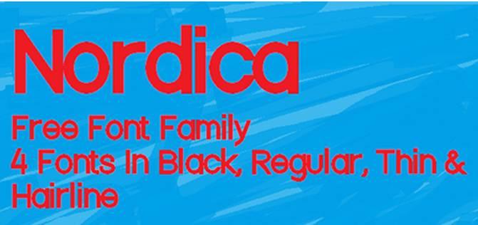 nordica free font