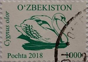 узбекистан 2018 лебедь зеленый 1000