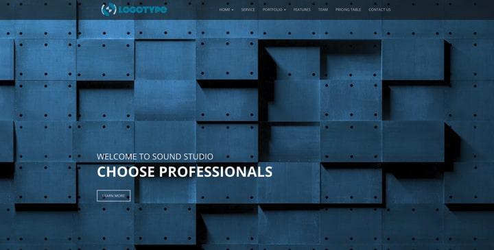 Sound Studio – Bootstrap Free Template