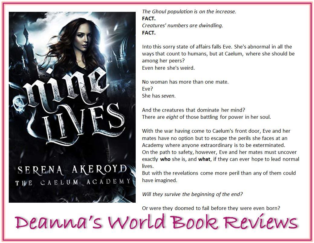 Nine Lives by Serena Akeroyd blurb