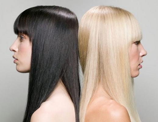 Из темного цвета волос в светлый
