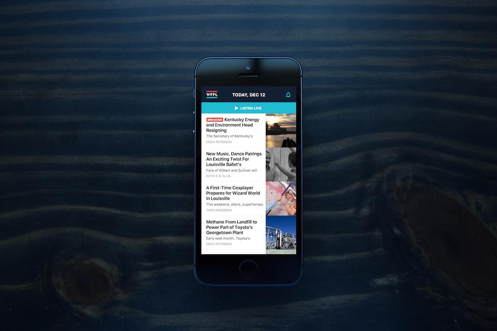 WFPL app on iPhone