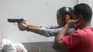 Gun firing at Camp Crame firing range