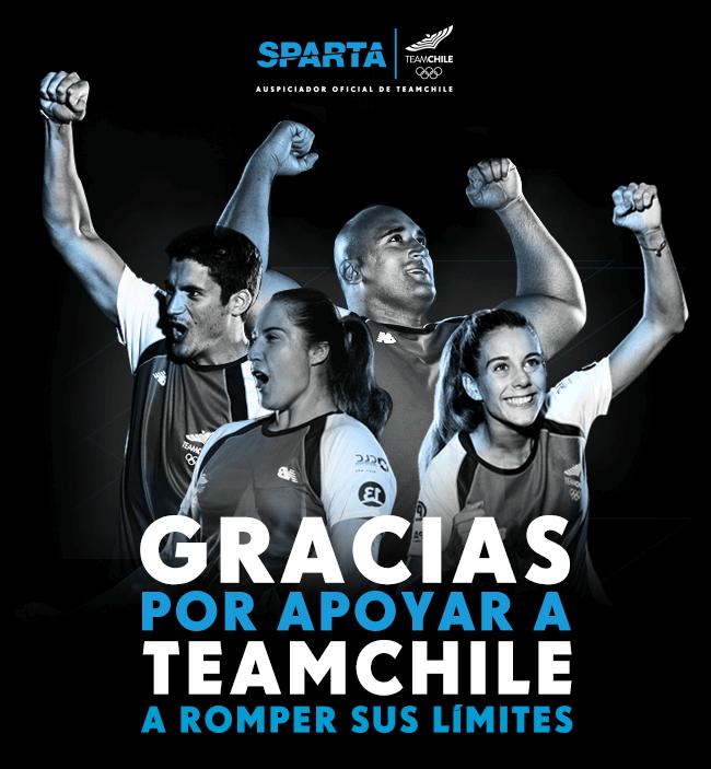Gracias por apoyar a TEAMCHILE a romper sus límites - Sparta