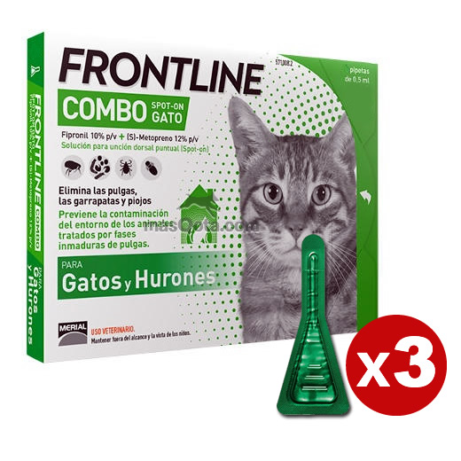 Frontline combo spot on gatti antiparassitario 3 pipette ebay - Frontline dopo bagno ...