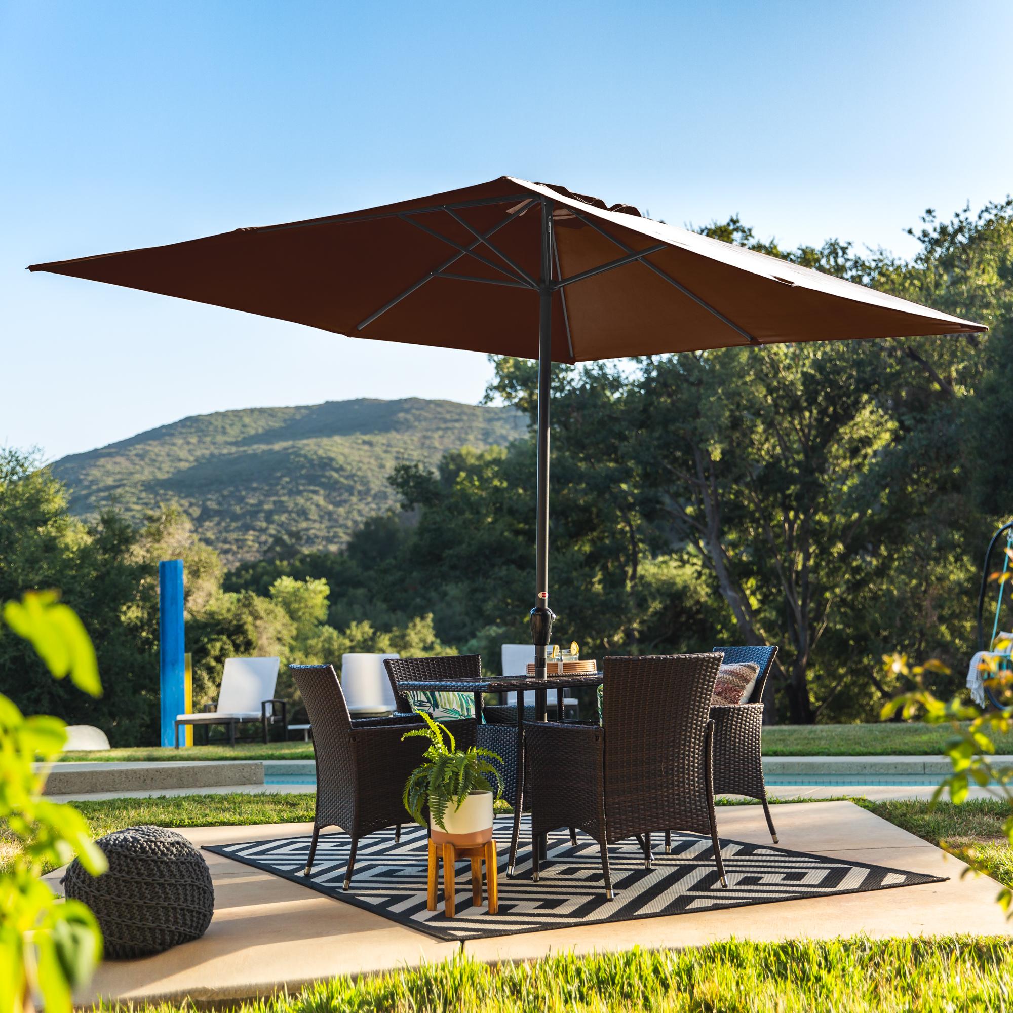 BCP-8x11ft-Rectangular-Patio-Umbrella-w-Easy-Crank-UV-Resistant-Fabric thumbnail 9